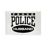 Proud Police Husband Rectangle Magnet