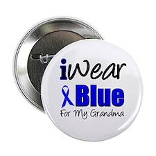 "I Wear Blue For My Grandma 2.25"" Button"