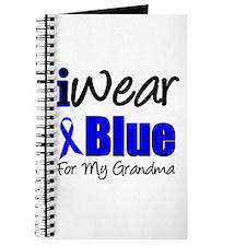 I Wear Blue For My Grandma Journal