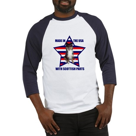 Patriotic Sheltie Baseball Jersey