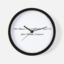 Geek Deep Thought Wall Clock