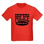 Proud Police Nephew Kids Dark T-Shirt