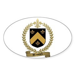 BRASSARD Family Crest Oval Decal