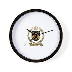 BRASSARD Family Crest Wall Clock