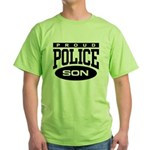 Proud Police Son Green T-Shirt