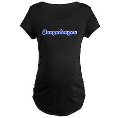 Retro Ouagadougou (Blue) Maternity Dark T-Shirt