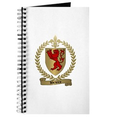 BRIERE Family Crest Journal