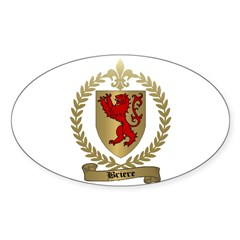 BRIERE Family Crest Oval Decal
