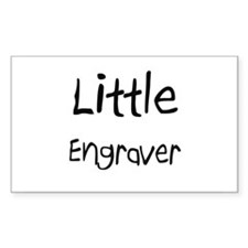 Little Engraver Rectangle Decal