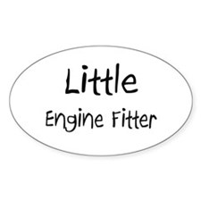 Little Engine Fitter Oval Sticker