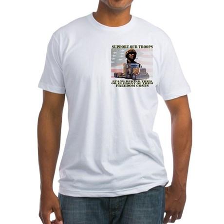 Truckers Supporting Our Troops Fitted T-Shirt
