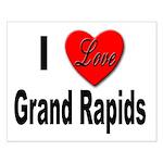 I Love Grand Rapids Michigan Small Poster