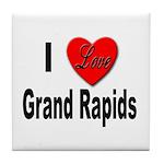 I Love Grand Rapids Michigan Tile Coaster