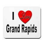 I Love Grand Rapids Michigan Mousepad