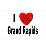 I Love Grand Rapids Michigan Postcards (Package of