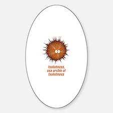 Sea Urchin Oval Decal