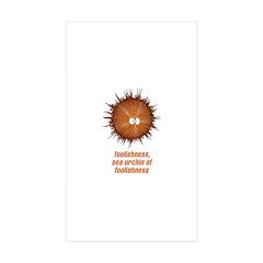 Sea Urchin Rectangle Sticker 50 pk)