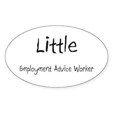 Little Employment Advice Worker Oval Sticker