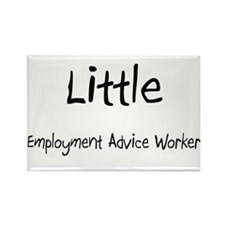 Little Employment Advice Worker Rectangle Magnet