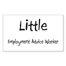 Little Employment Advice Worker Sticker (Rectangle
