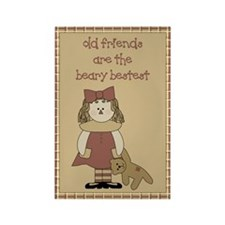 Old Friends Prim Rectangle Magnet (10 pack)