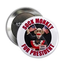 Sock Monkey for President 2.25-inch Button