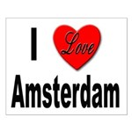 I Love Amsterdam Small Poster