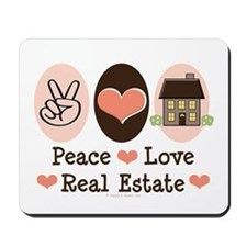 Peace Love Real Estate Agent Mousepad