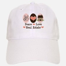 Peace Love Real Estate Agent Baseball Baseball Cap