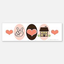 Peace Love Real Estate Agent Bumper Bumper Bumper Sticker
