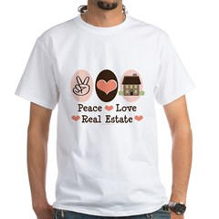 Peace Love Real Estate Agent Shirt