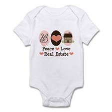 Peace Love Real Estate Agent Infant Bodysuit