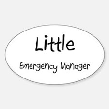 Little Emergency Manager Oval Decal