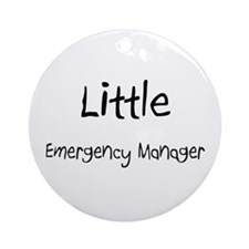 Little Emergency Manager Ornament (Round)