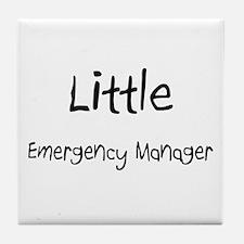 Little Emergency Manager Tile Coaster