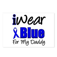 I Wear Blue For My Daddy Postcards (Package of 8)
