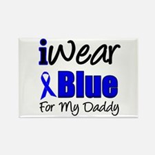 I Wear Blue For My Daddy Rectangle Magnet
