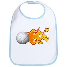 Flaming Volleyball Bib