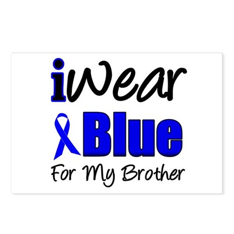 I Wear Blue For My Brother Postcards (Package of 8