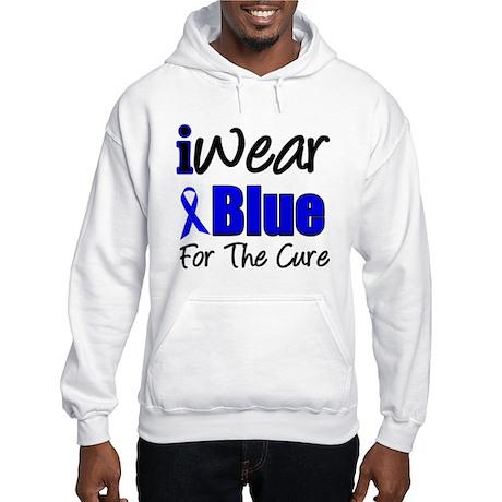 I Wear Blue The Cure Hooded Sweatshirt