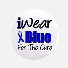 "I Wear Blue The Cure 3.5"" Button"