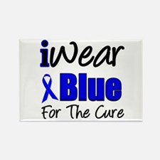 I Wear Blue The Cure Rectangle Magnet