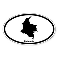 Colombia Outline Oval Decal