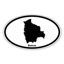 Bolivia Outline Oval Decal