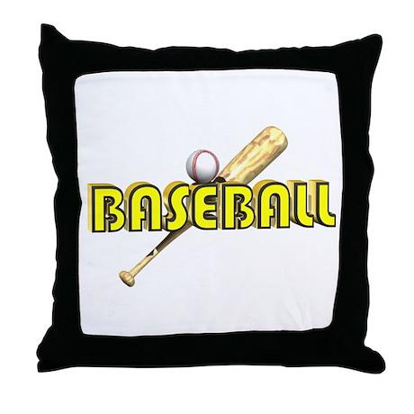 Baseball Bat & Ball Throw Pillow