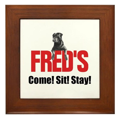 Fred's Merchandise Framed Tile
