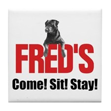Fred's Merchandise Tile Coaster