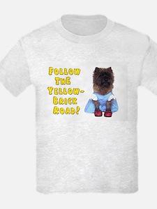 Cairn Terrier Oz Yellow Brick R T-Shirt