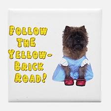 Cairn Terrier Oz Yellow Brick Road Tile Coaster