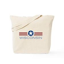 Star Stripes Wisconsin Tote Bag